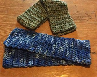 Double strand crochet scarf