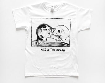 T-SHIRT Edvard Munch / / the kiss of death / / death / life.