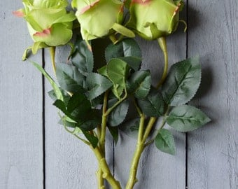 Faux Rose Stems - 4 colours