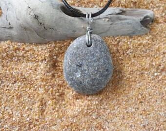 Beach Stone Pendant Beach Stone Jewelry Stone Jewelry Stone Pendant Beach Stone Necklace Beach Pendant Necklace Beach Hand Made Jewelry Gift