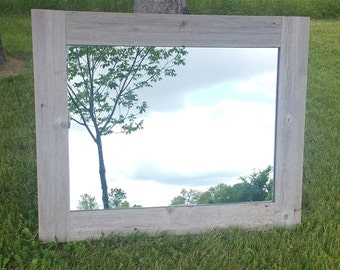 Reclaimed Barn Wood Mirror, Barnwood Mirror, Reclaimed Wood Mirror, Large Mirror, Wall Mirror