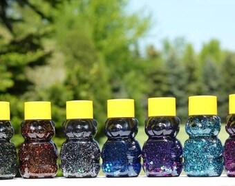 Mini Sensory Bear - Sensory Toy - Sensory Bottle - Autism Toys - Autism Sensory Toys - Galaxy Set