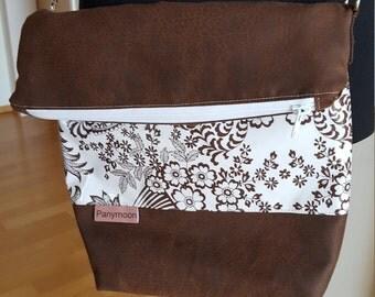 Shoulder bag PANYMOON - Brown Flowers - fed