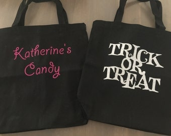 Personalized Trick or Treat Halloween Bags