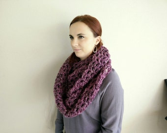 Extra long crochet cowl/neck warmer