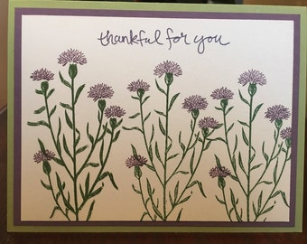 Stampin up thankful for you friendship handmade card