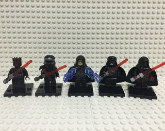 Star Wars Sith Lord and Darth Vader Maul Raven Kylo Minifigure LEGO Compatible
