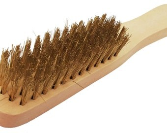 Waproo Wooden Wire Suede Nubuck Brush - Removes dirt dust & Mud