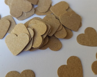Natural Rustic Card  Table Confetti