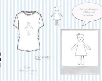 """t-shirt children """"Ne pas déranger"""" (do not disturb)"""