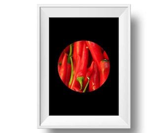 Red Hot Chill Chilly minimalist wall art, minimalist wall art red chilly , red minimalist poster, red chilly  - printable