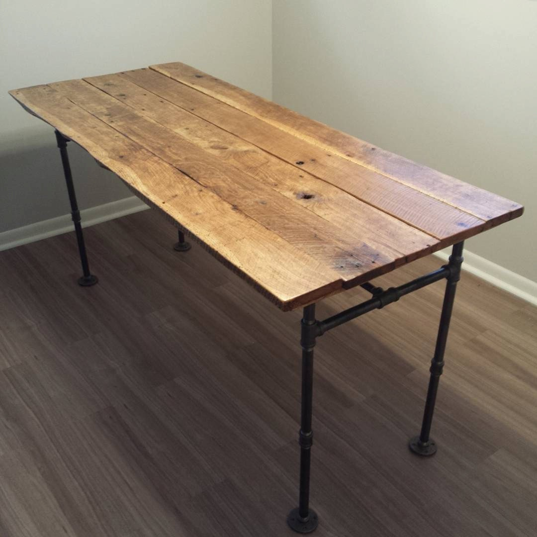 Custom reclaimed wood dining room table for Unique wood dining room tables