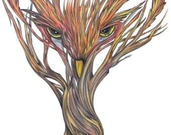Tree Owl Print