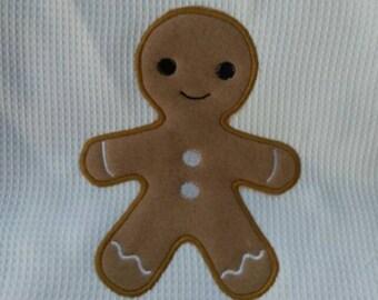 Ginger Boy Applique Embroidery Design