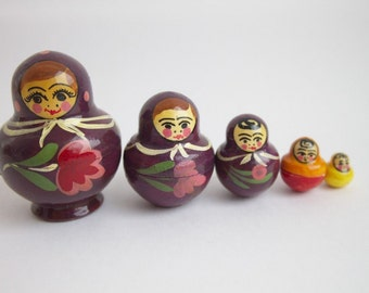 Russian Traditional Nesting doll 5 pcs 2.8'' in tall