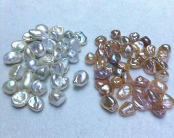 AAAA 8mm white, purple,pink,Metallic luster freshwater keshi pearls,,keshi pearl,baroque loose pearls,very high luster