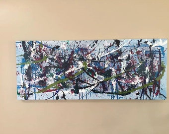 40 X 16 acrylic abstract painting