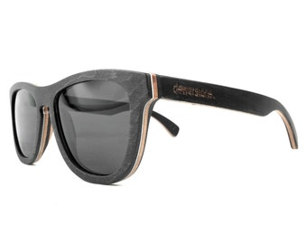 dewerstone - Pioneer Wooden Sunglasses Polarized - Maple Wood Black