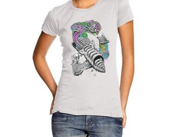 Women's Skellington Rainbow Rocket T-Shirt