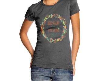 Women's Keep Calm And Put A Bird On It T-Shirt