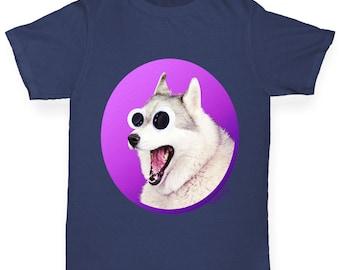 Girl's Googly Eyes Dog T-Shirt