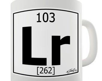 Periodic Table Of Elements Lr Lawrencium Ceramic Mug