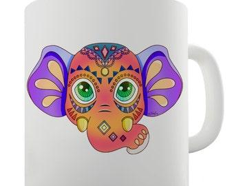 Tribal Elephant Ceramic Mug