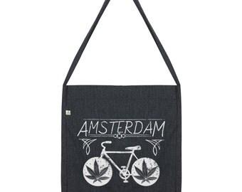 Amsterdam Weed Bike Tote Bag