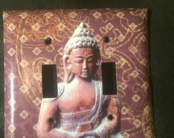 Buddha double switch plate