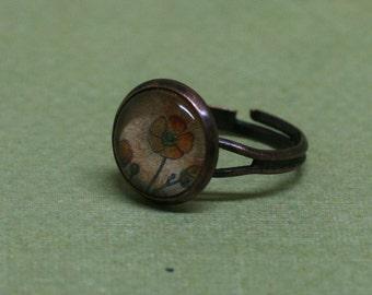 Orange Poppy Ring