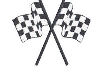SALE  Checkered Flag Embroidery Design
