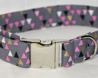 Triple Triangle Dog Collar
