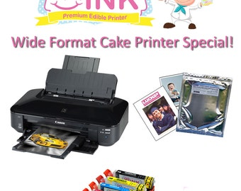 QQink Wide Format Cake Printer Bundle - Canon iX6820 Comes with Edible Ink & Edible Paper