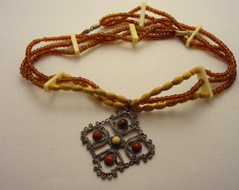 Rustic Multistrand Necklace