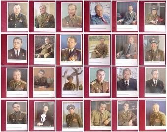 Full  Set  50 pcs.Astronauts Postcard/Poster/Soviet Astronauts/Space Collectible/Space Exploration/Spacecraft /Soviet vintage