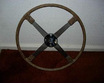 vintage mg steering wheel