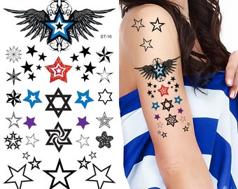 Supperb® Temporary Tattoos - Star Assortment Tattoos