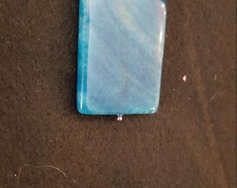 Blue agate on a silver chain