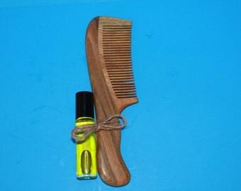 Vanilla Sandalwood Roll-On Perfume with Sandalwood Comb