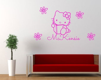Personalized Hello Kitty Wall Decal
