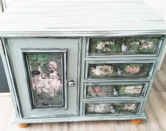 Copper green chest of drawers vintage style