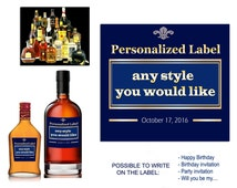 Personalized liquor bottle label. Custom whiskey bottle labels with your photo. Will you be my groomsman labels. Best man label