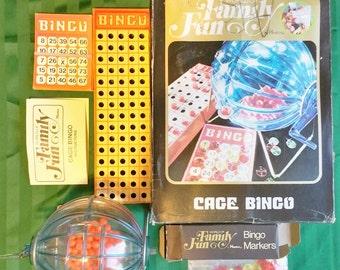 Vintage 1971 Hasbro World Of Family Fun Cage Bingo Game