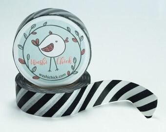 Black and White Striped Washi Tape