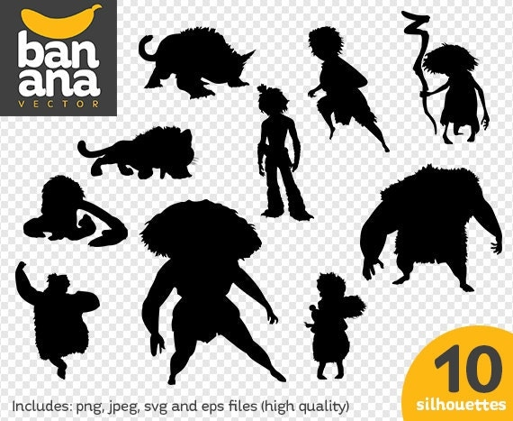 sale croods silhouettes png jpg svg eps files high