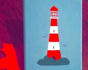 Red Lighthouse Painting