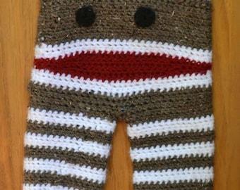 Sock monkey pants
