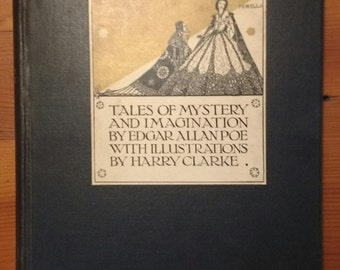 Very RARE 'Tales of Mystery and Imagination' by Edgar Allan Poe, Illustrated by Harry Clarke - Circa 1933 - MAJOR Markdown - Buy NOW!!!