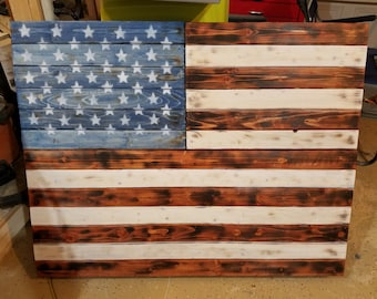 Conceal Cabinet/ American Flag