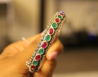 Sterling Silver and Marcasite Bangle